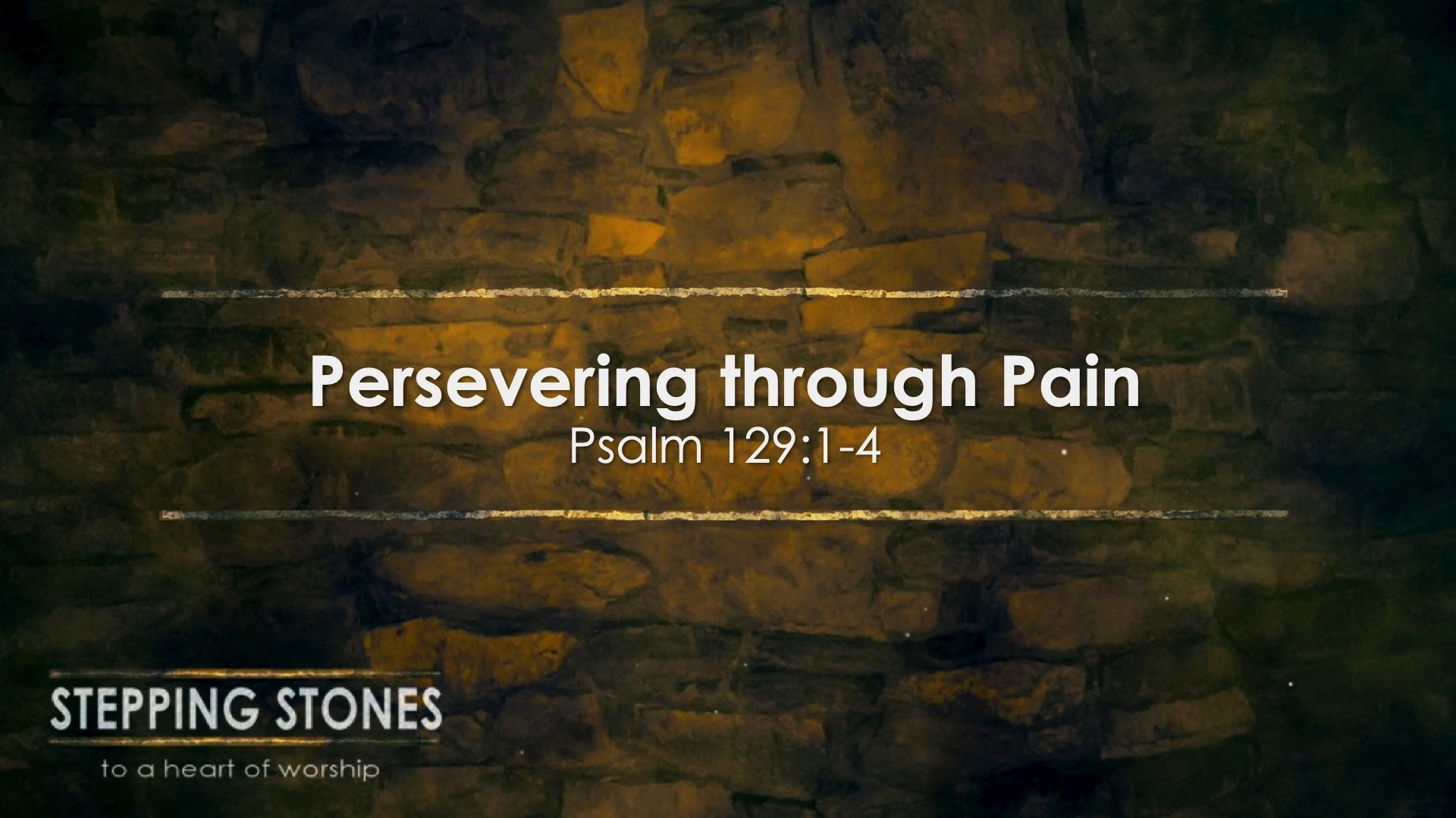 Persevering Through Pain